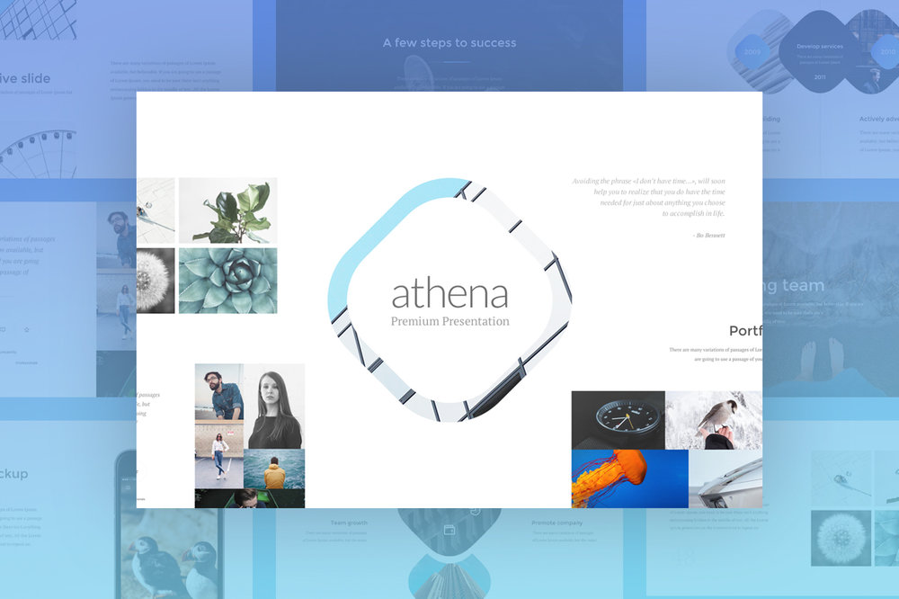 Athena Presentation - Bright, creative and minimal 160 slides for PowerPoint and Keynote.