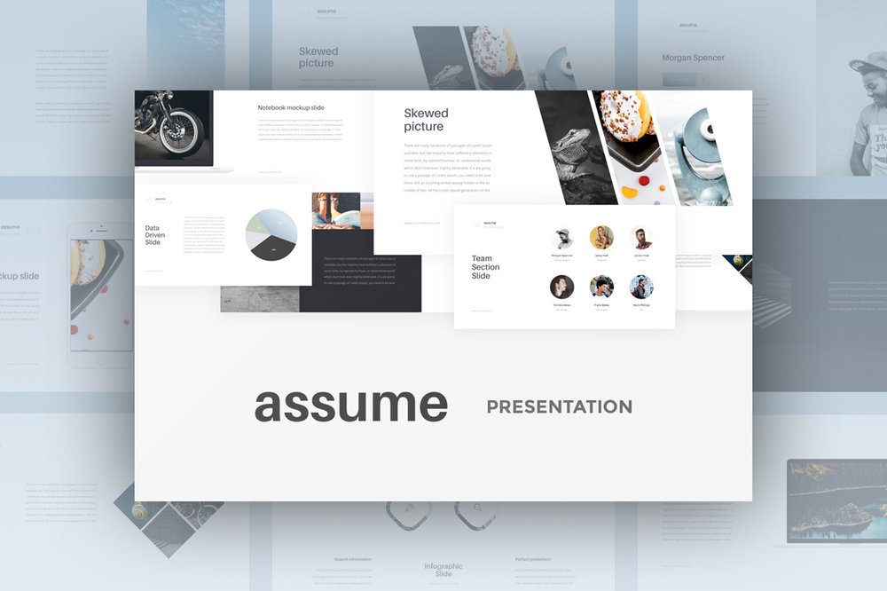 Assume Presentation - Simple clean design, made this presentation universal for everyone.