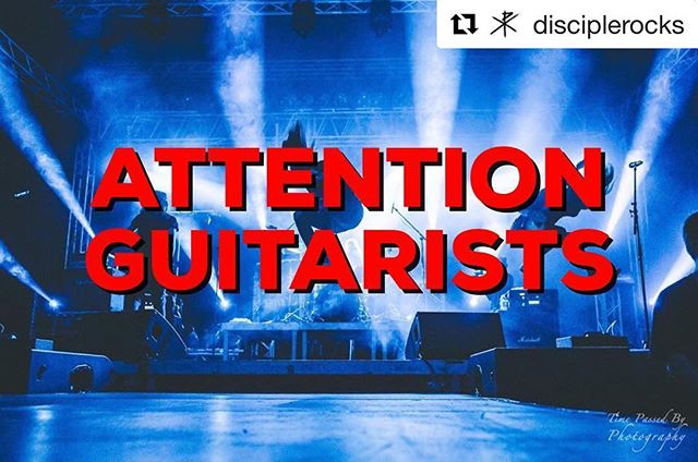 #Guitarists ! Here's your chance to help our friends  @disciplerocks ! 👌🏻🤘🏼🔥 ・・・ ATTENTION GUITARISTS!  Next year, we will be creating a lineup of guitar players to preform live shows with us throughout the year. We are now accepting video auditions to fill these roles!  We are asking that you send in a good quality video to where we can hear your guitar playing over our music. The songs we are asking you to perform are:  First Love (w/ Guitar Solo) Long Live The Rebels (w/ Guitar Solo) EXTRA CREDIT: Regime Change (w/ Guitar Solo)  We also encourage you to sing harmonies/BGV's if you are able to do so. **This is not a requirement but, good singers will definitely get noticed** Before you send in videos, make sure you meet these requirements: •You MUST have adequate transportation to and from Nashville, TN. •You MUST be 18 years old or older.  ALL VIDEOS MUST BE SUBMITTED TO discipleband@gmail.com. Videos not sent to this address will NOT be considered.