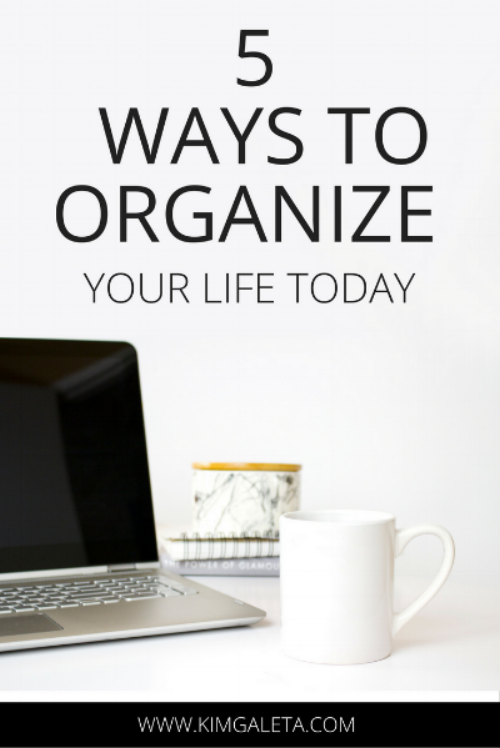 This is a must read. Get organized in 5 easy steps.