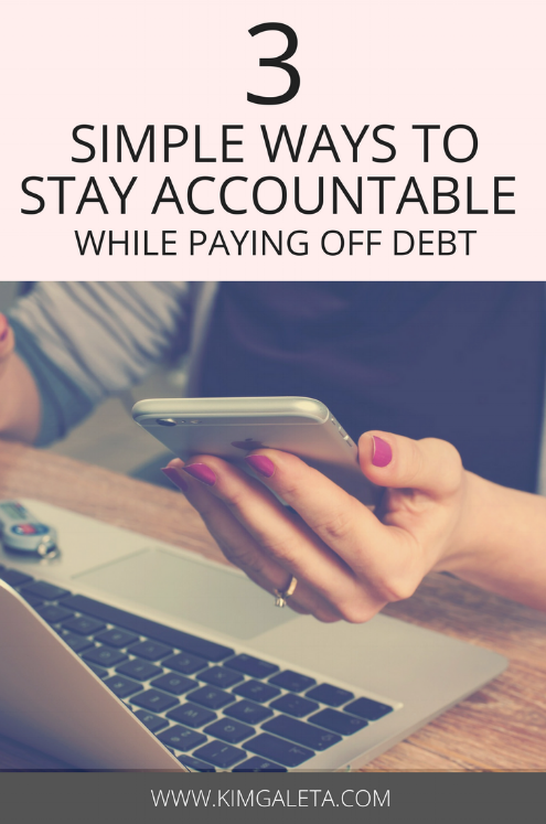 Debt freedom can be a reality! Here are 3 ways to save money, live frugally and stay accountable while payoff debt.