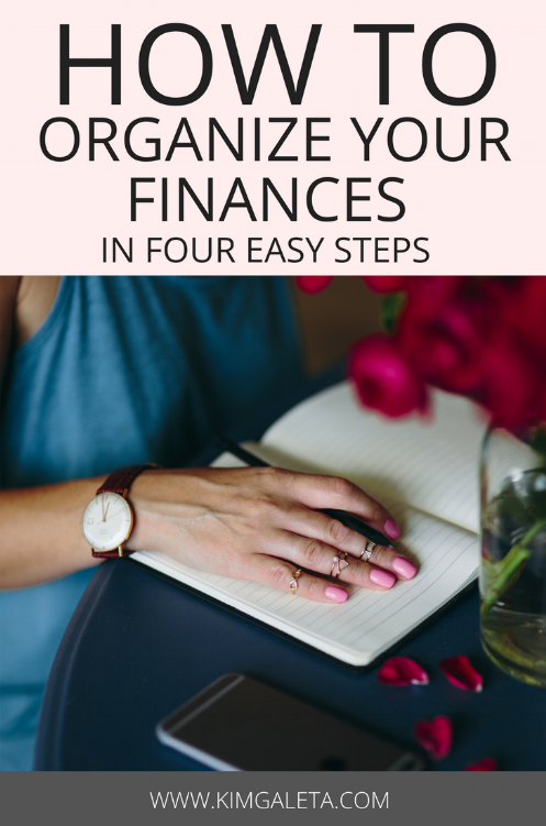 Want to learn how to organize your finances and gain financial freedom? Here are 4 easy tips to organize your finances.