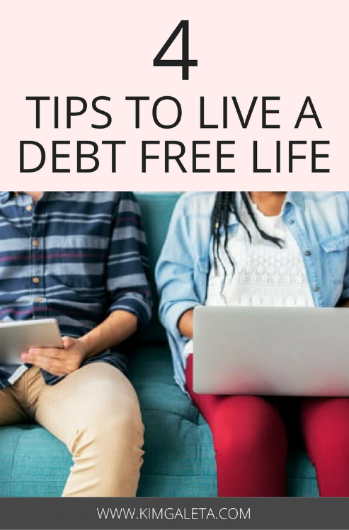 How to be debt free? Tips for paying off debt and achieving financial freedom. Paying off debt can be a reality if you use these 4 tips.
