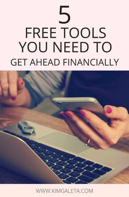 5 free tools you need to get ahead financially even if you're living paycheck to paycheck.