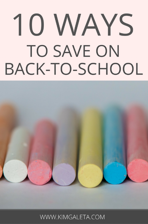 Looking for ways to save on back to school supplies? Look no further! Here are 10 money saving tips to get you through the school year!