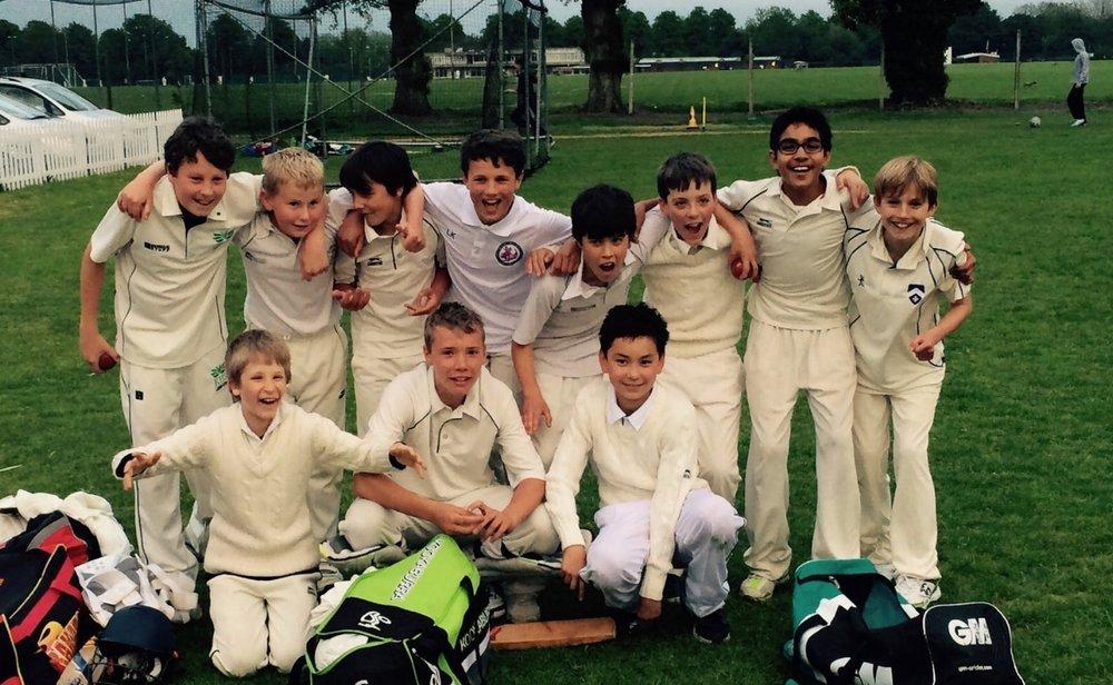The Under 13s celebrate a win