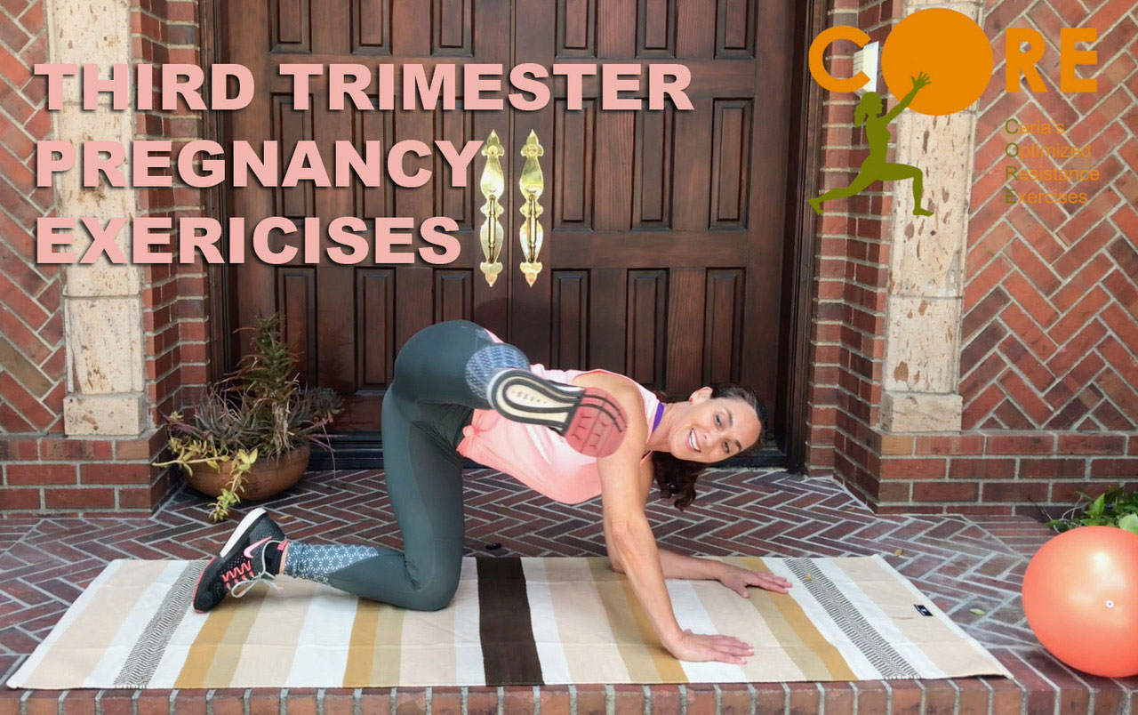 Third Trimester Pregnancy Exercises To Prepare You For Labor Birth And Beyond Core Personal Fitness Trainer Prenatal Postnatal Training Specialist Pilates Instructor Carla Zeitlin
