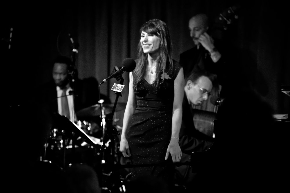Jonathan Schwartz' 47th Annual Christmas show at Birdland, NYC (Marc McLean, Audra Mariel, Phil Palombi, Ted Firth)  Photo Credit: Scott Kulok