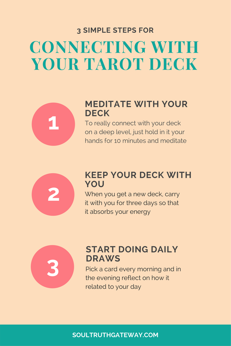 How to connect with your tarot deck