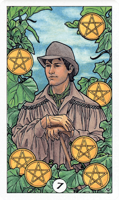 Seven of Pentacles Tarot Card Meaning