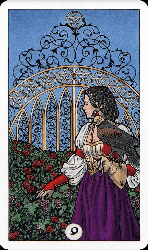 Nine of Pentacles Tarot Card Meaning