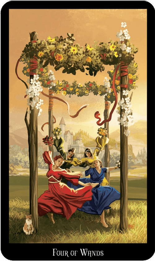 Four of Wands Tarot Card Meaning