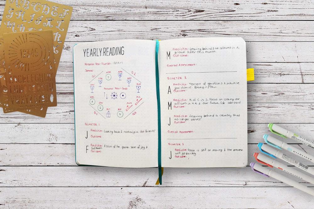 A tarot bullet journal - Mamta from Soul Truth Gateway