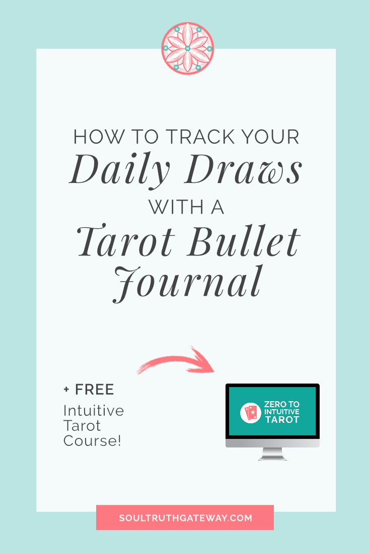 image about Free Printable Tarot Journal named How in direction of Monitor Your Everyday Attracts with a Tarot Bullet Magazine