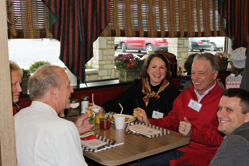 Past Meet-n-Greet event for members at the Chef-O-Nette, with history talk by owner, Harlan Howard.