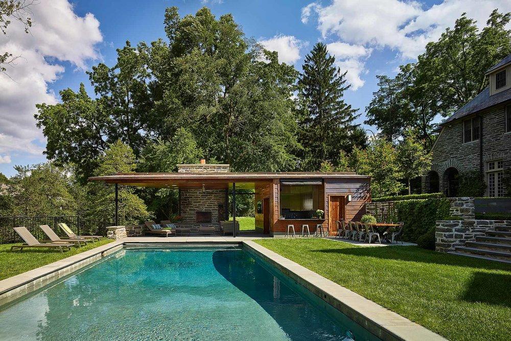 Private Pool House Wyant Architecture Villanova, PA