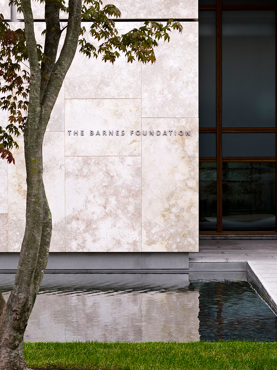 The Barnes Foundation Pentagram See More in  Environmental Graphics