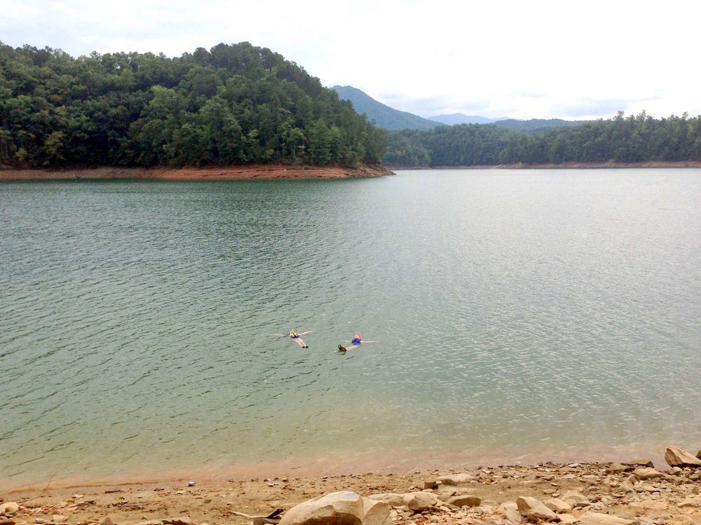 Floating in Fontana Lake
