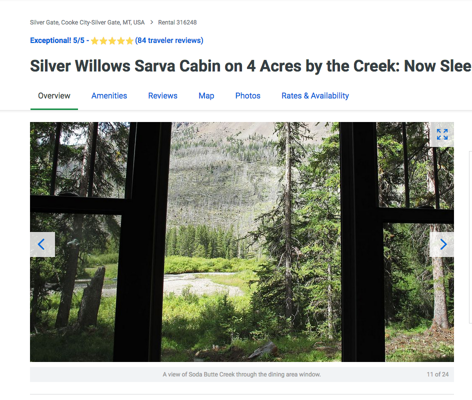 Yellowstone VRBO #316248