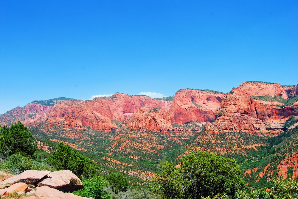 View back over Kolob Canyons