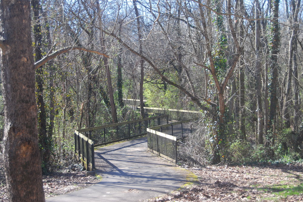 One of many bridges over 3rd Creek