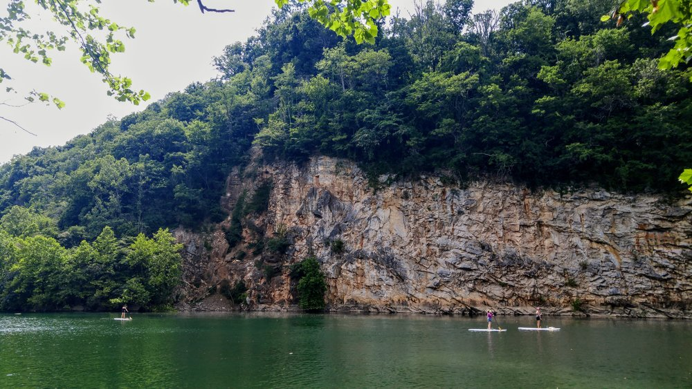 Paddleboarding at Meads Quarry