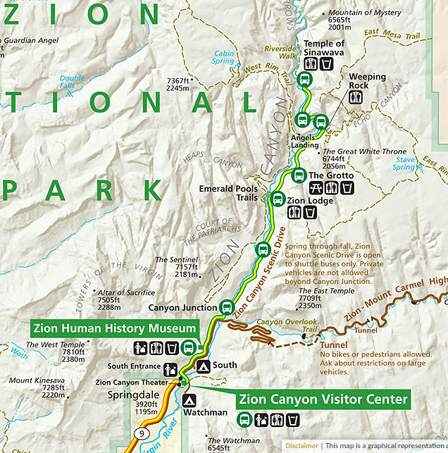 Map  courtesy of the National Park Service