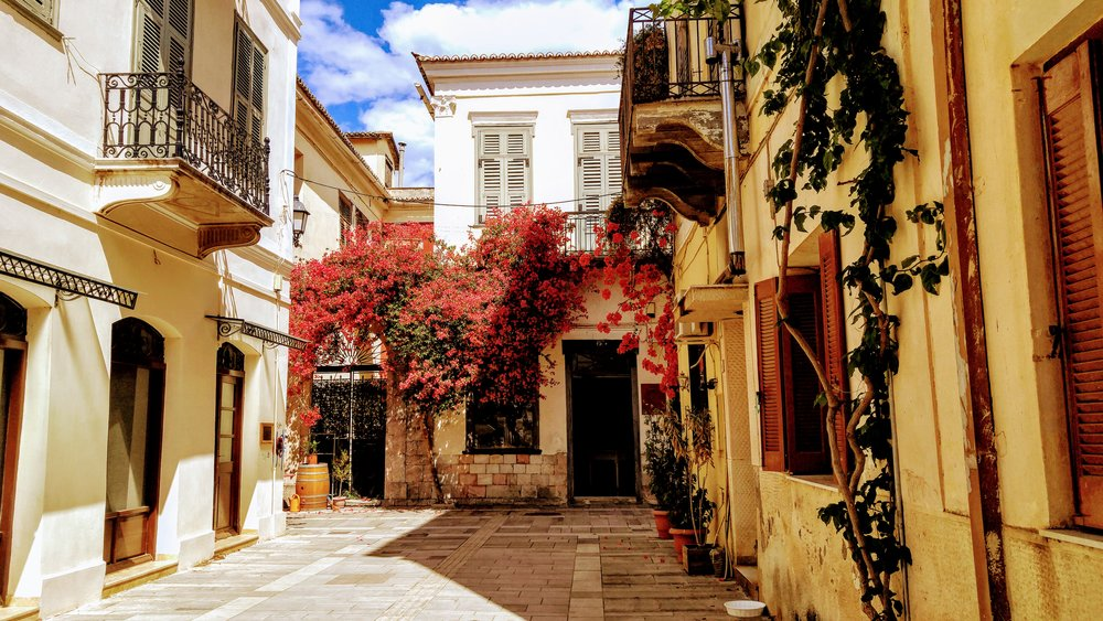 Beautiful streets of Nafplio