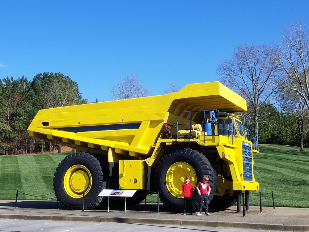100 ton Komatsu dump truck. It looks like a toy until you get close to it and realize it is enormous.