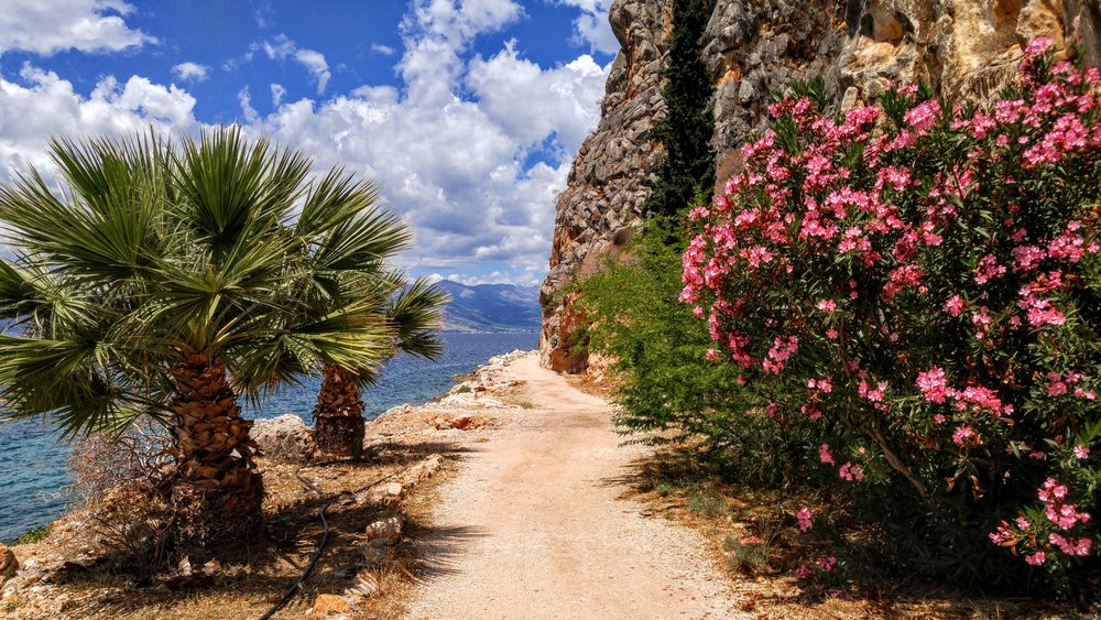Coastal walk outside Nafplio in the Peloponnese. Not bad right?
