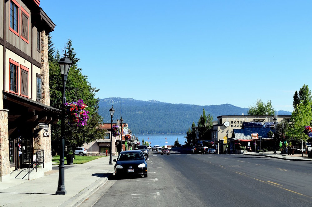 Downtown McCall leading to Payette Lake