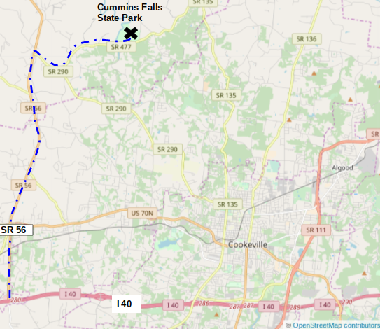 Map courtesy of OpenStreetMap