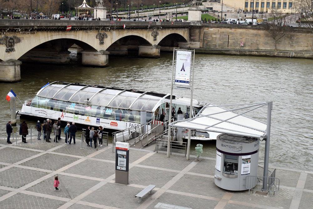 Batobus Stop at Pont de L'Alma