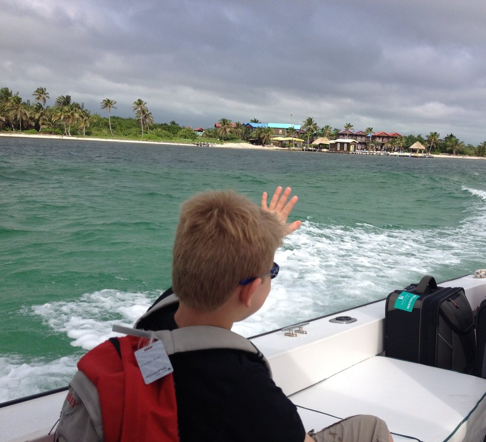 Saying goodbye to Ambergris Caye in Belize
