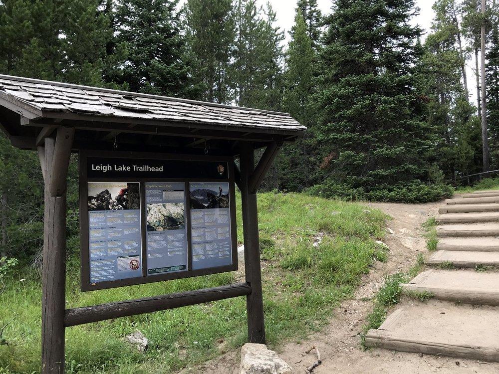 Leigh Lake Trailhead