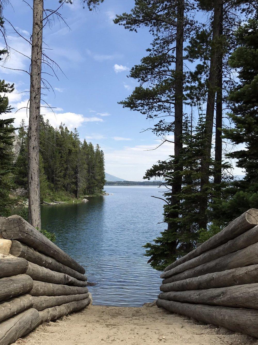 Canoe Portage to Leigh Lake
