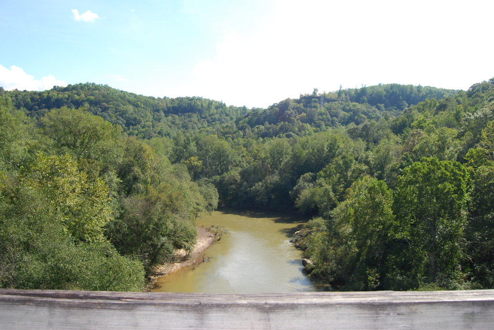 View over Big South Fork River and gorge.