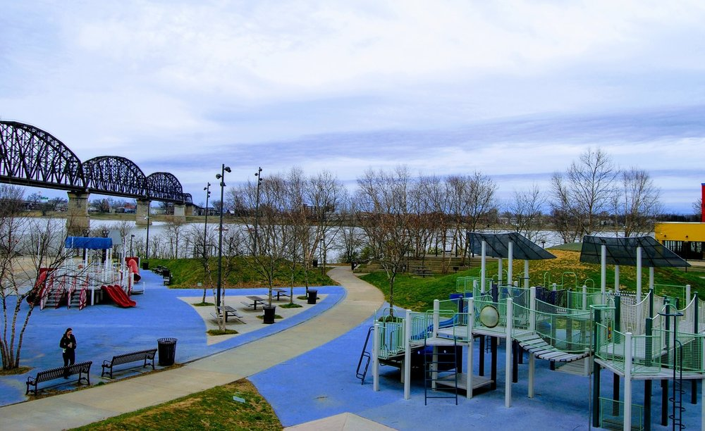 One of the playgrounds in Waterfront Park