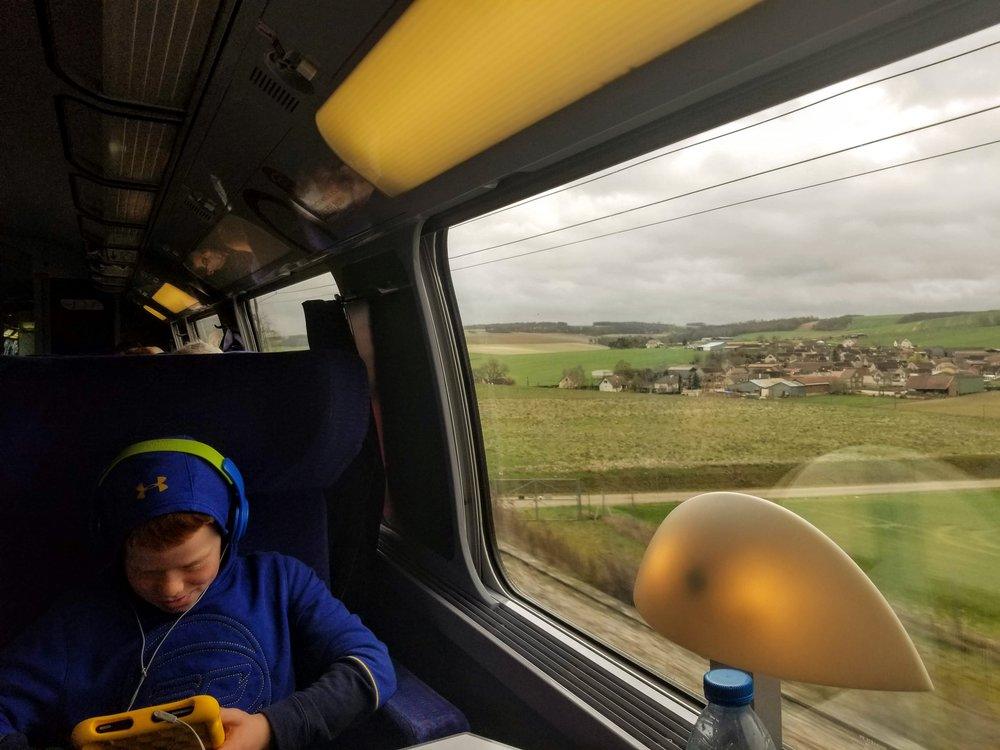 Love the views of the French countryside from a TGV