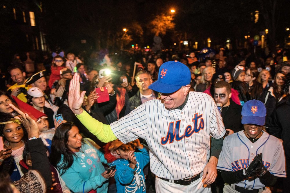 High Five. Park Slope Halloween Parade. Brooklyn, New York.