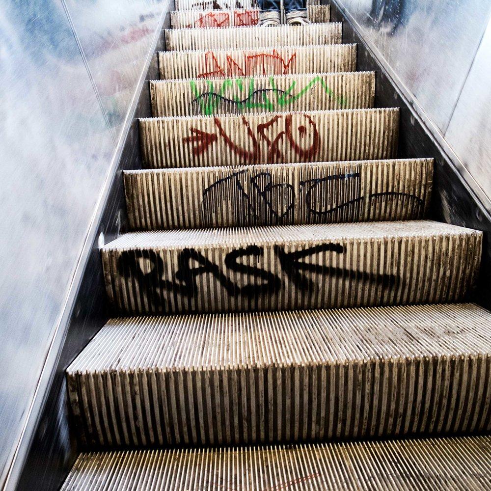 Climbing Graffiti.