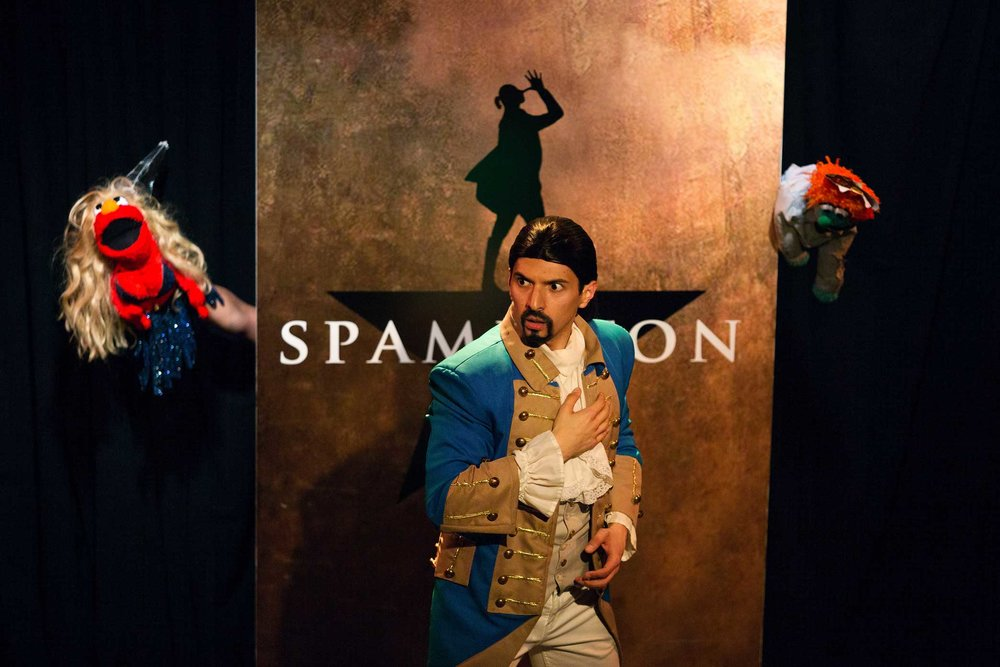 Rosales plays Lin Manuel Miranda in Spamilton: An American parody and musical of the Broadway show Hamilton.