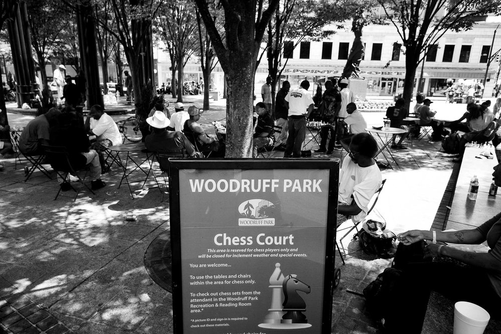 Woodruff Park Chess Court. Atlanta, GA.