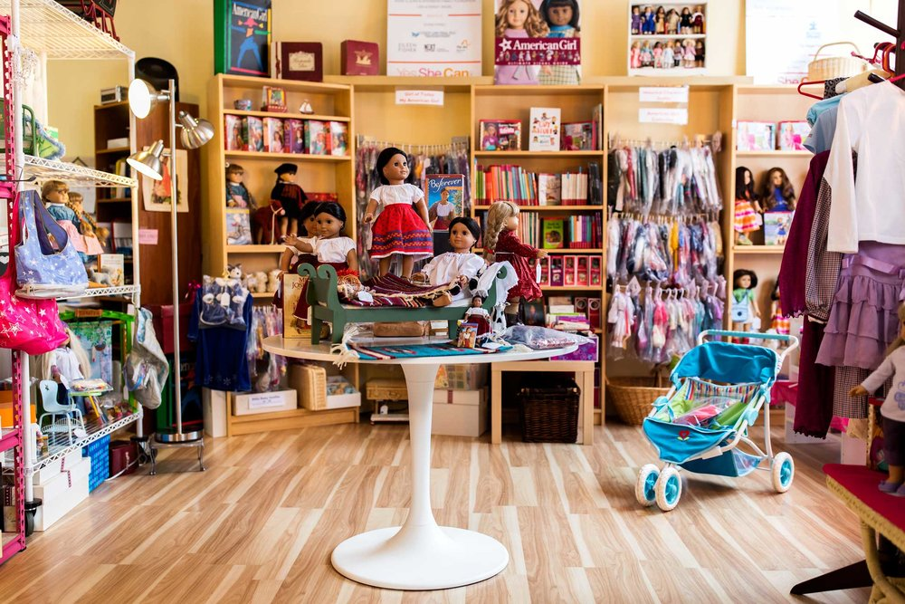 Resale boutique for American Girl Dolls store Girl A Gain in White Plains, New York. Marjorie Madfis, a mother of a teen girl with autism founded Yes She Can Inc. to help teen girls and young women with autism spectrum disorders to develop transferable job skills to enable them to join the competitive workforce and achieve greater independence.