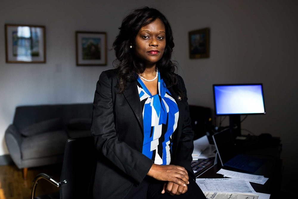 Assemblywoman, Rodneyse Bichotte, at her office in Brooklyn.