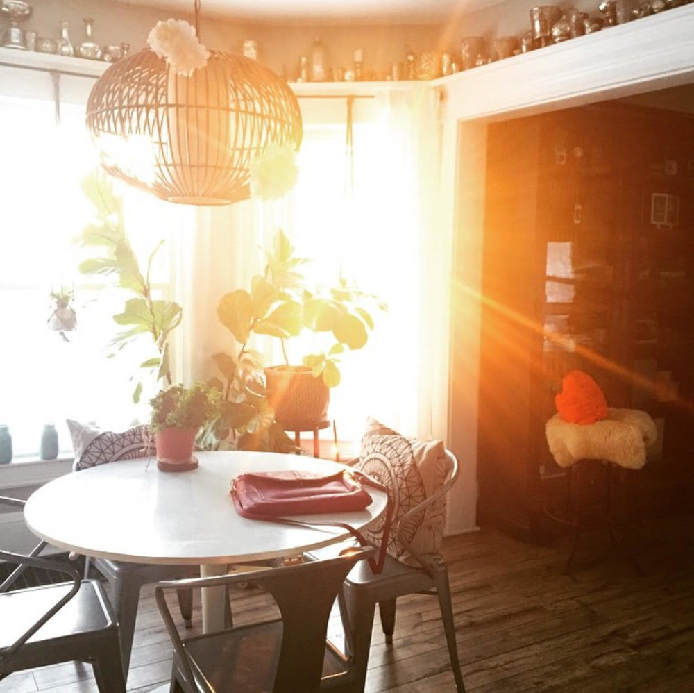 Zoey's sun filled dining room back in Ohio.