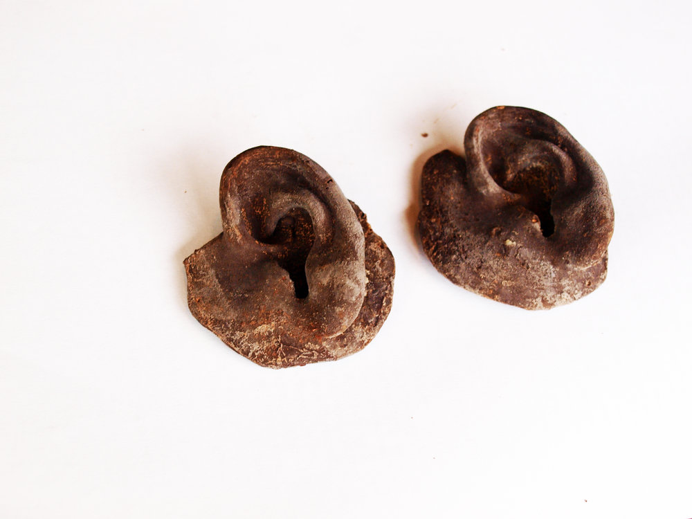 title, Artist's ears, size 9cm, 2011, materials, chocolate (2).JPG