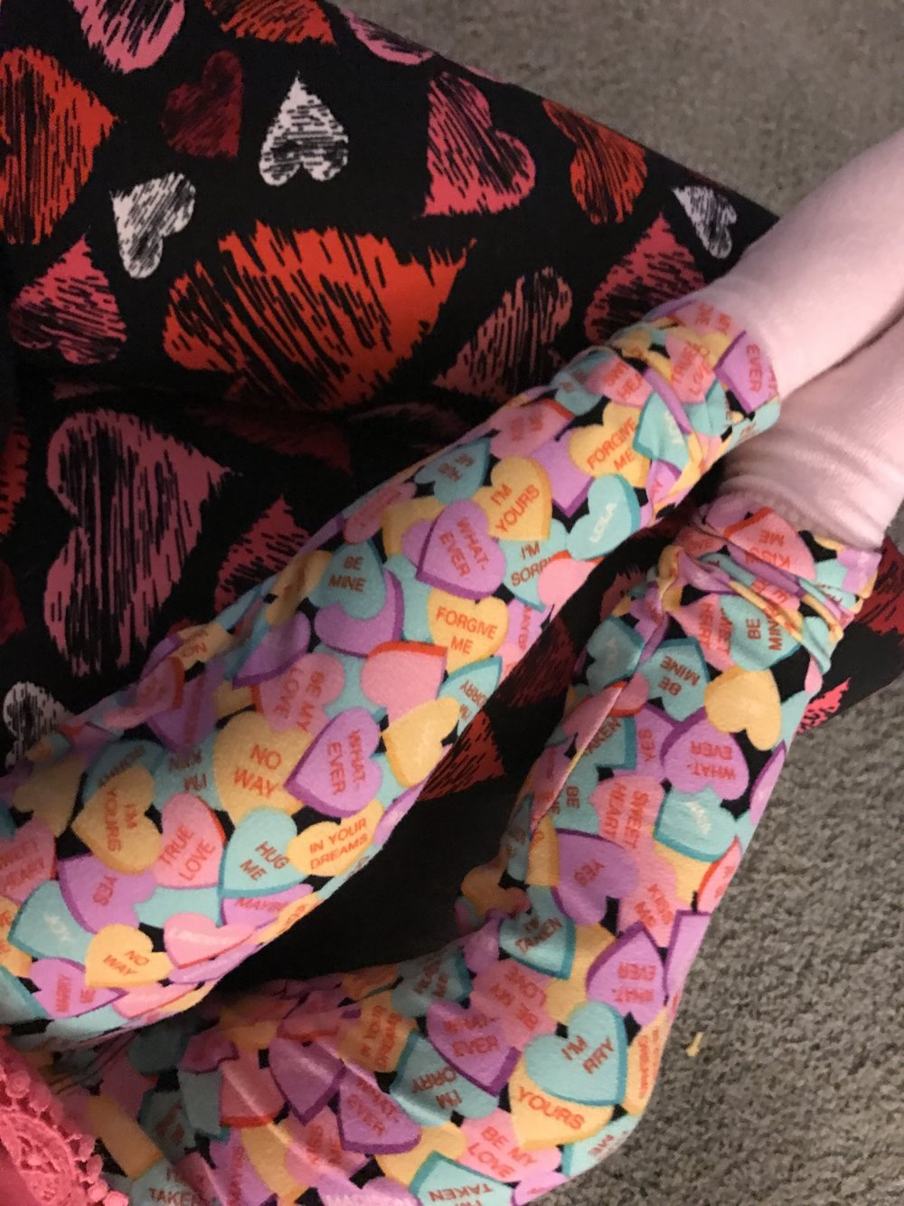 Heart leggings! Cuteness overload!