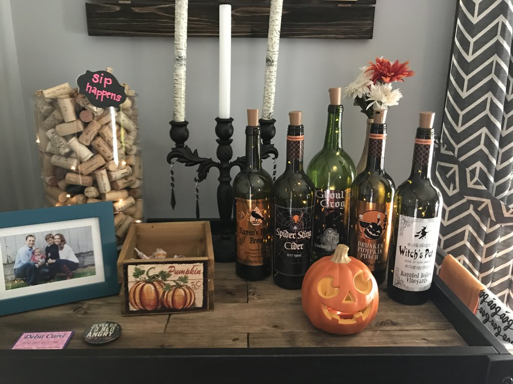 fall decor bar