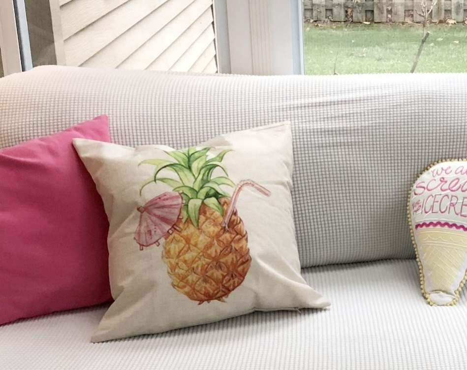 Fun summer pillows